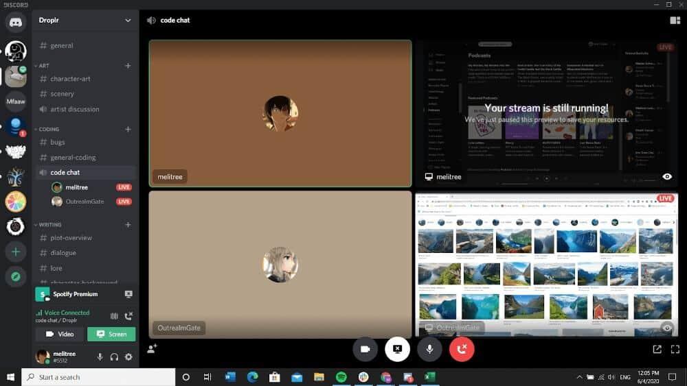 Compartir pantalla con Discord