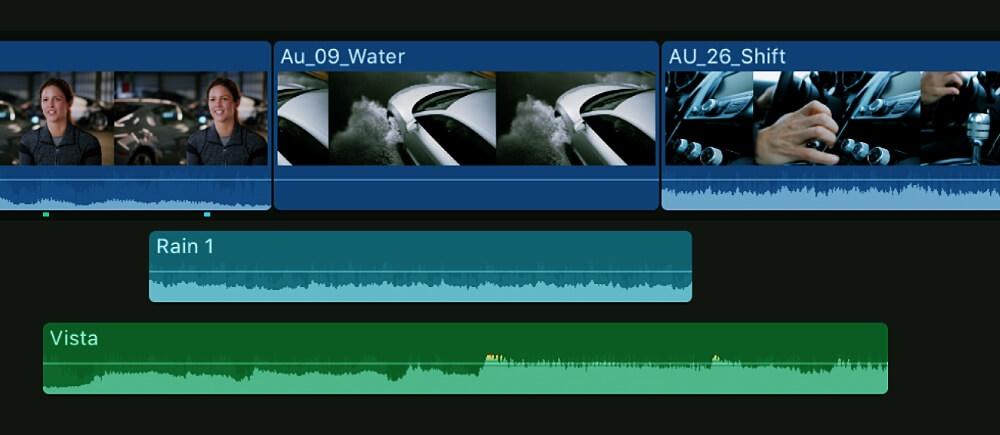 Final Cut Pro edición de audio