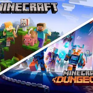 Minecraft vs Minecraft Dungeon