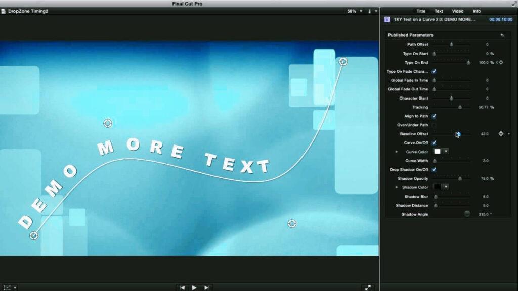Texto en Final Cut Pro X