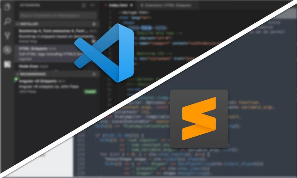 Visual Studio Code vs Sublime Text